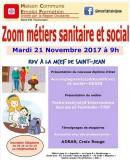 Zoom métiers sanitaire et social
