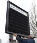 Installation d'un panneau lumineux