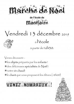 Marché de Noël de l'école de Montjoire